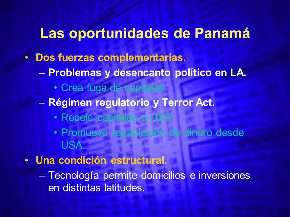 Las oportunidades de Panamá Dos fuerzas complementarias.