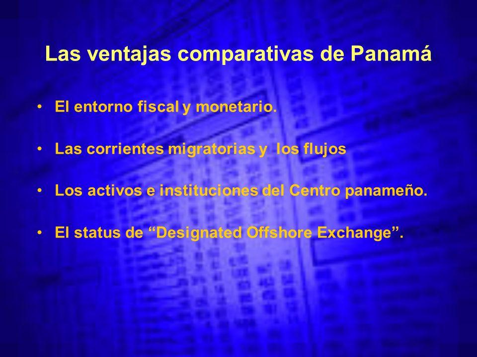 Las ventajas comparativas de Panamá El entorno fiscal y monetario.