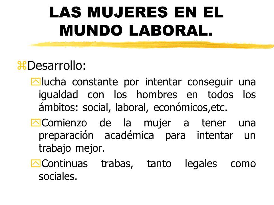 LAS MUJERES EN EL MUNDO LABORAL.