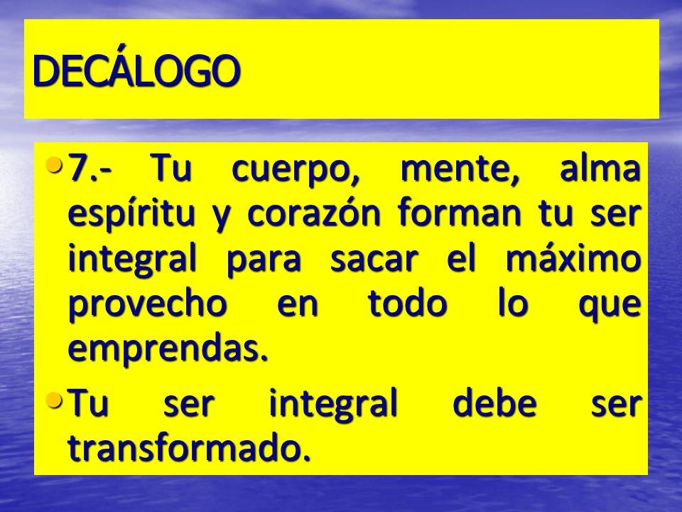 DECÁLOGO 8.