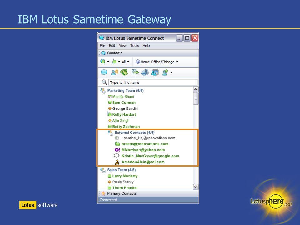 10 IBM Lotus Sametime Gateway