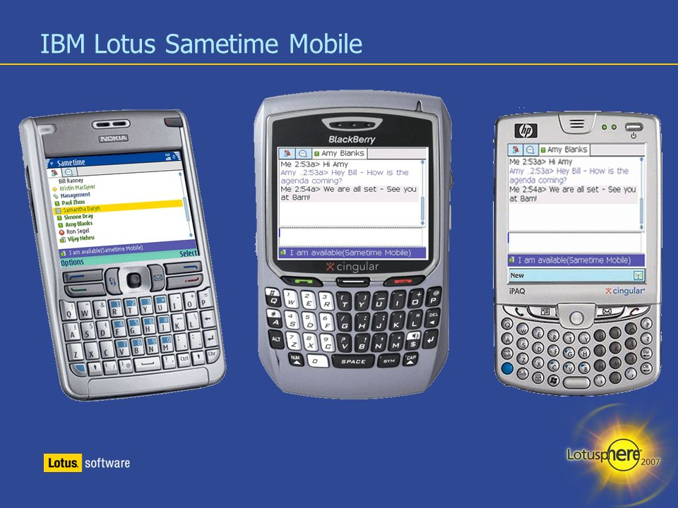 12 IBM Lotus Sametime Mobile