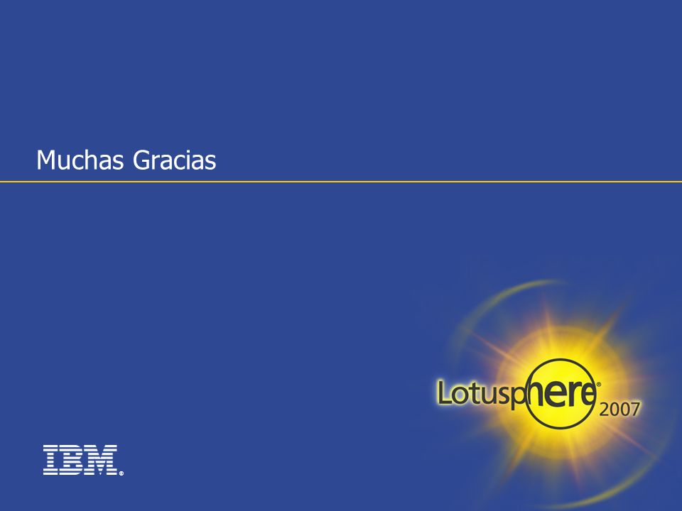 ® Muchas Gracias