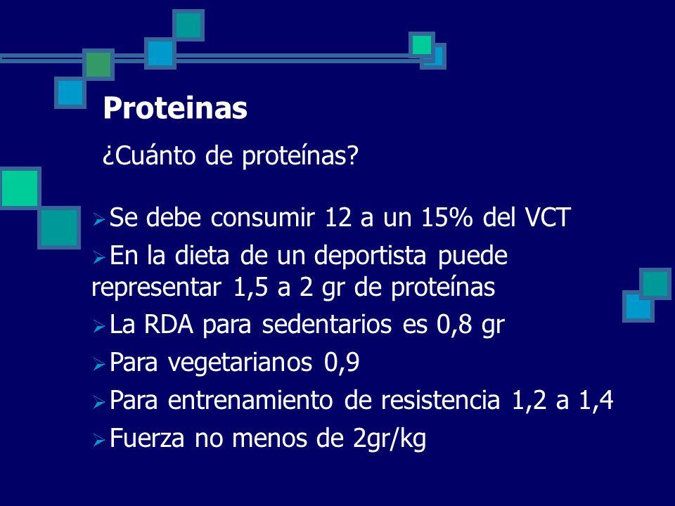 Proteinas ¿Cuánto de proteínas.