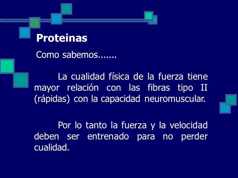 Proteinas Como sabemos.......