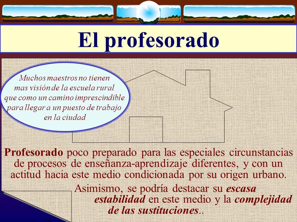 José Luis Bernal Agudo Universidad de Zaragoza 10 El profesorado Profesorado poco preparado para las especiales circunstancias de procesos de enseñanz