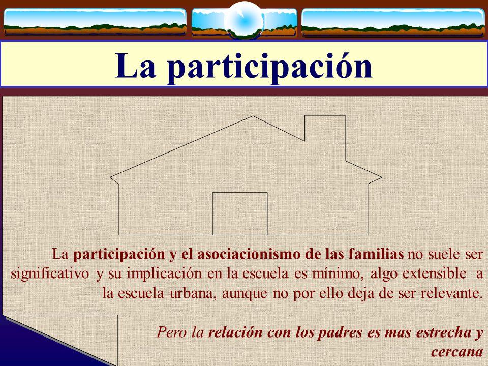 José Luis Bernal Agudo Universidad de Zaragoza 14 La participación La participación y el asociacionismo de las familias no suele ser significativo y s