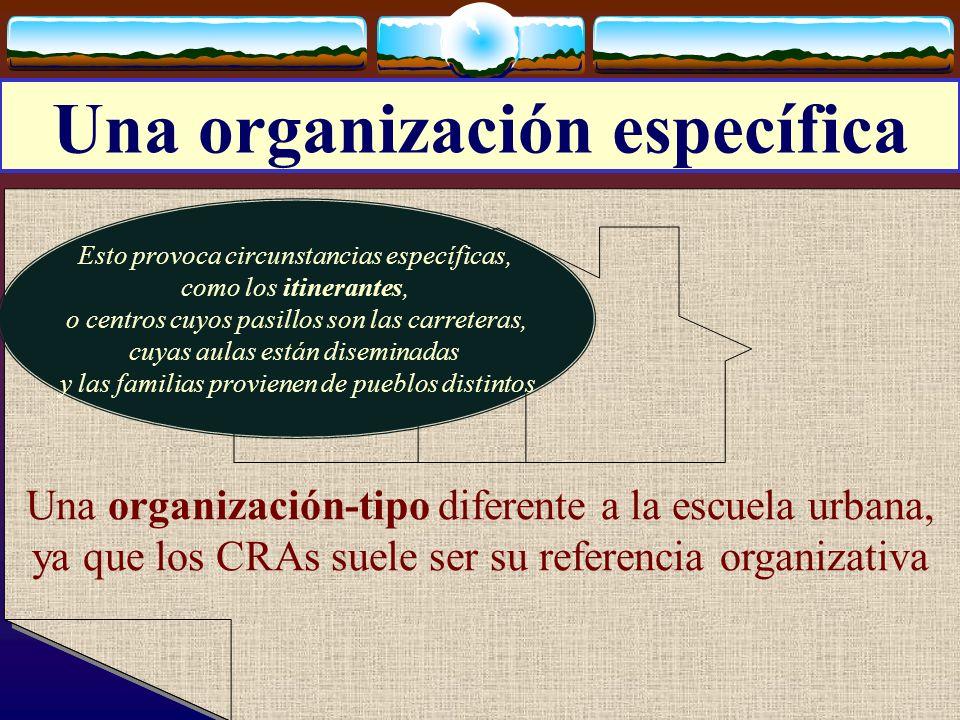 José Luis Bernal Agudo Universidad de Zaragoza 15 Una organización específica Una organización-tipo diferente a la escuela urbana, ya que los CRAs sue
