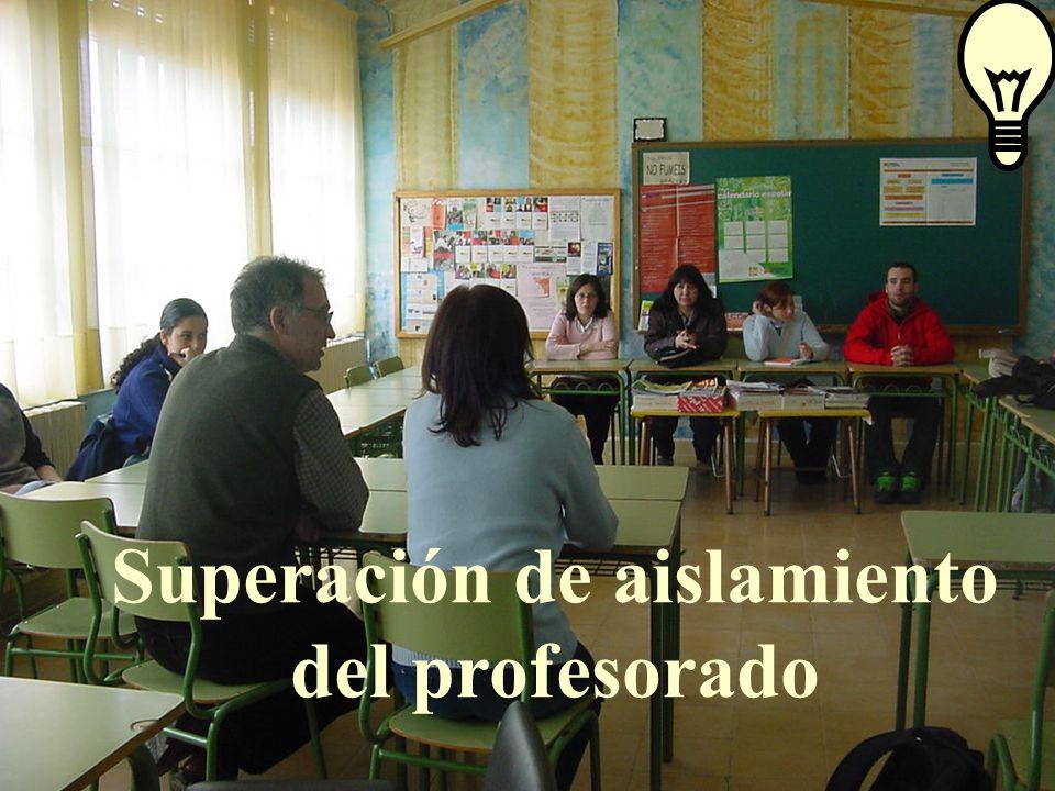 José Luis Bernal Agudo Universidad de Zaragoza 24 Superación de aislamiento del profesorado