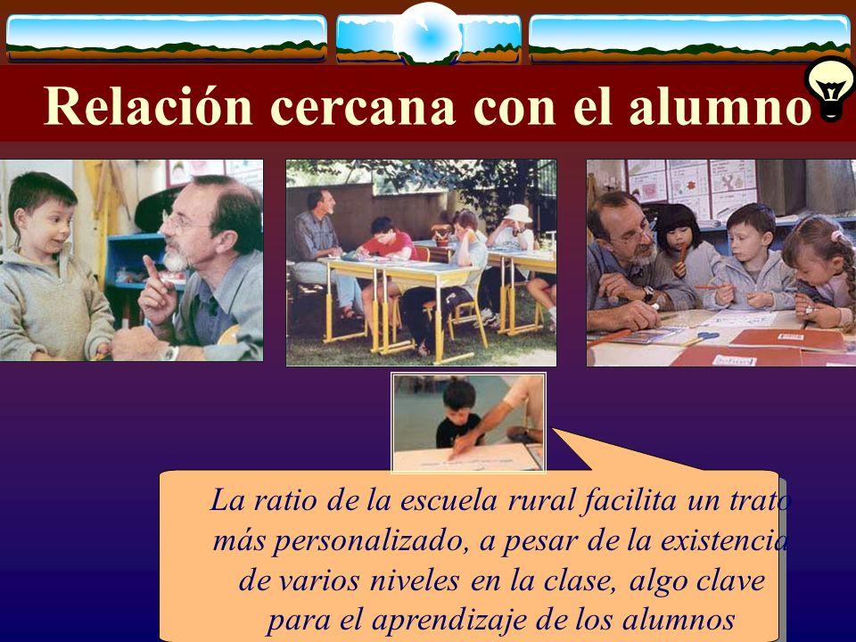 José Luis Bernal Agudo Universidad de Zaragoza 30 Relación cercana con el alumno La ratio de la escuela rural facilita un trato más personalizado, a p