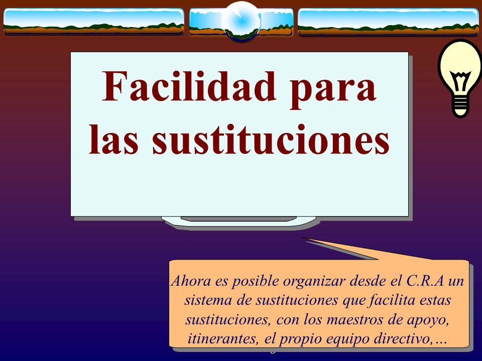 José Luis Bernal Agudo Universidad de Zaragoza 31 Facilidad para las sustituciones Ahora es posible organizar desde el C.R.A un sistema de sustitucion