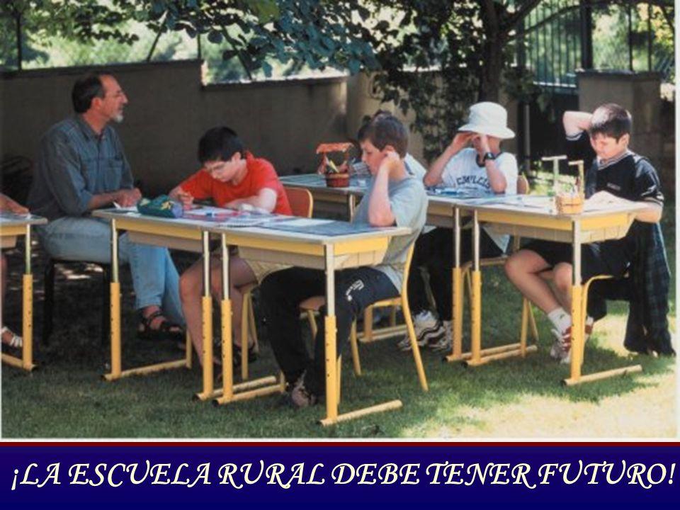 ¡LA ESCUELA RURAL DEBE TENER FUTURO!