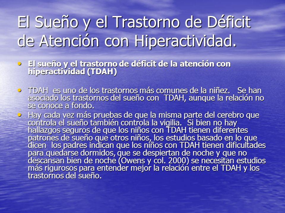El Sueño y el Trastorno de Déficit de Atención con Hiperactividad. El sueño y el trastorno de déficit de la atención con hiperactividad (TDAH) El sueñ