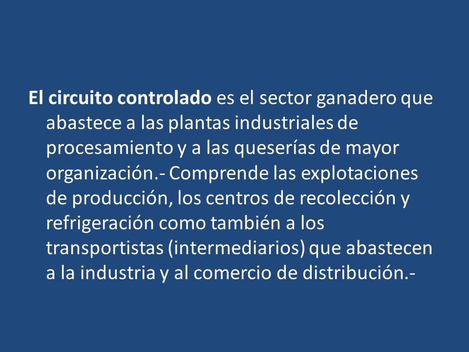 El circuito controlado es el sector ganadero que abastece a las plantas industriales de procesamiento y a las queserías de mayor organización.- Compre