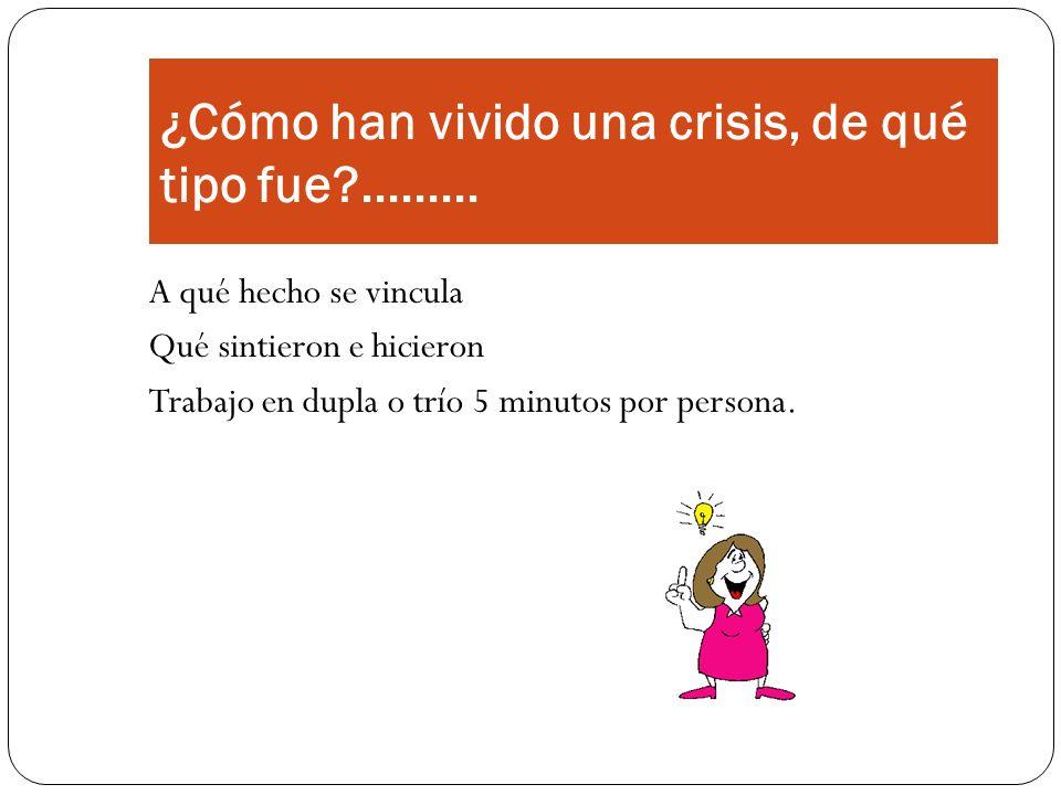 Fases de la Crisis según Du Ranquet 1.
