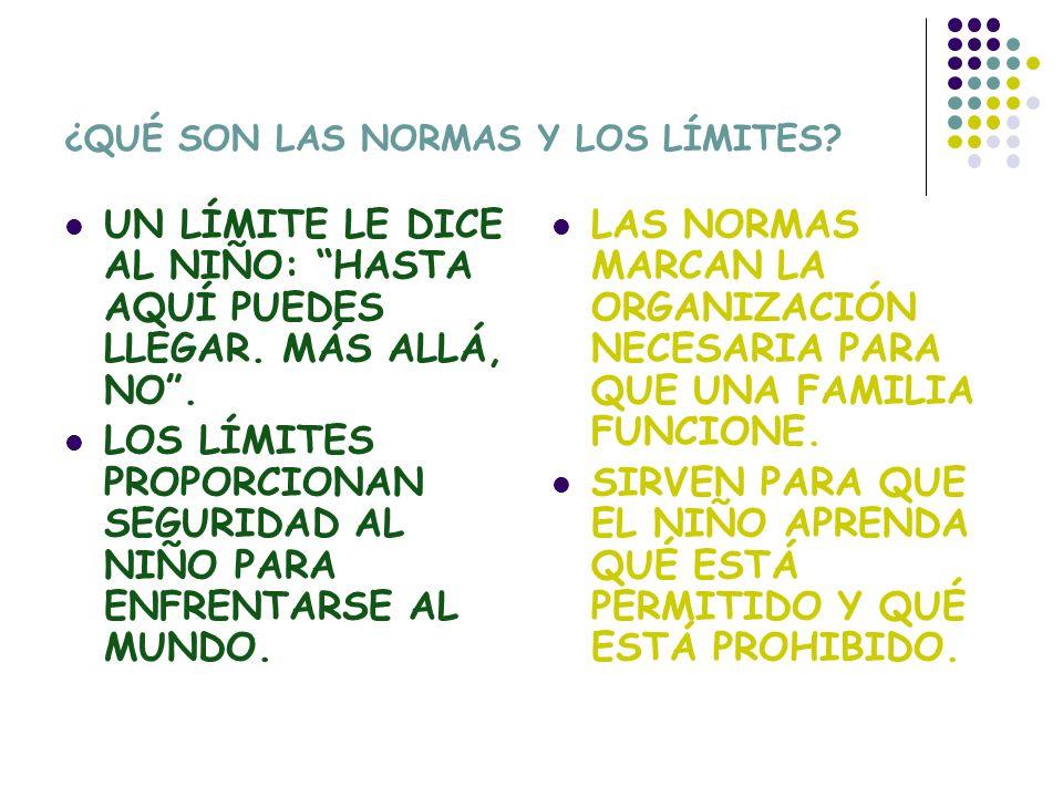 NORMAS Y LÍMITES