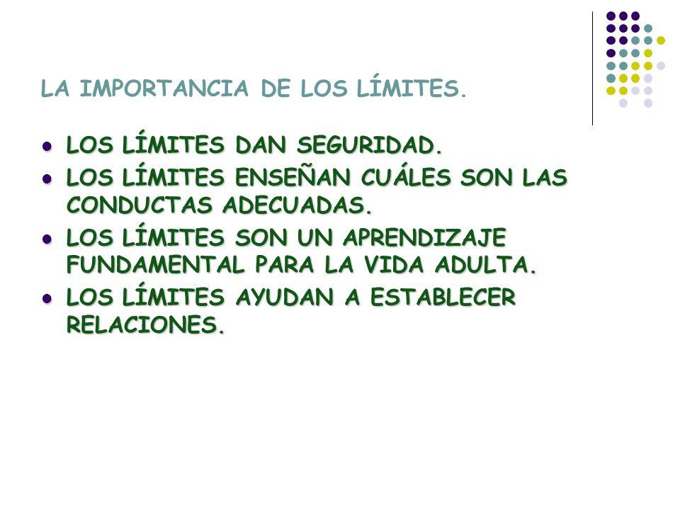 LA IMPORTANCIA DE LOS LÍMITES.LOS LÍMITES DAN SEGURIDAD.