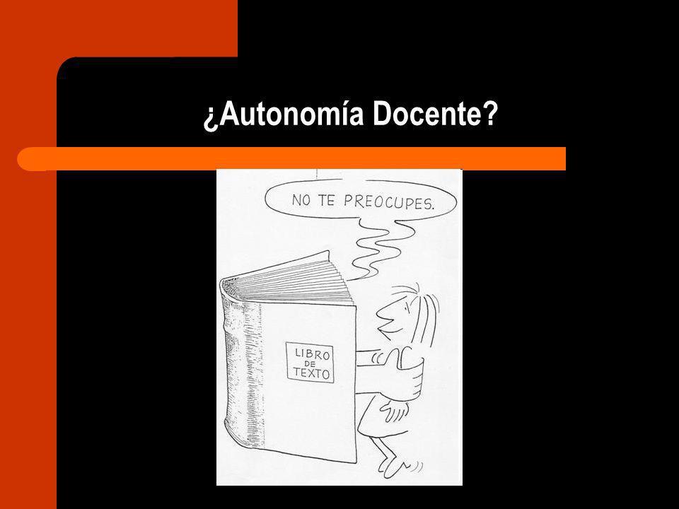 ¿Autonomía Docente?