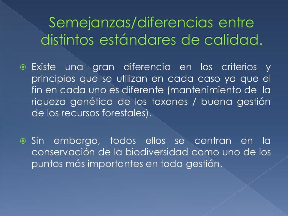 Existe una gran diferencia en los criterios y principios que se utilizan en cada caso ya que el fin en cada uno es diferente (mantenimiento de la riqu