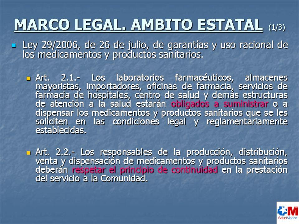 RESULTADOS OBTENIDOS DEL ESTUDIO DE LOS DESABASTECIMIENTOS COMUNICADOS (1/2) Se constata un bajo número de efectivos desabastecimientos.