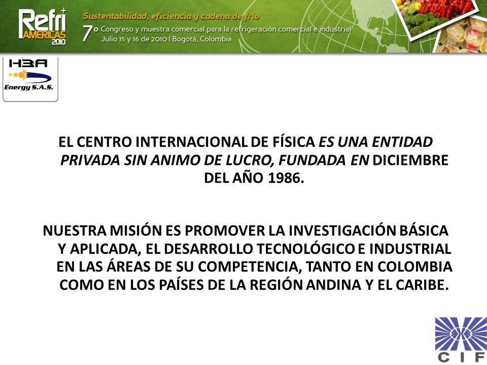 EL CENTRO INTERNACIONAL DE FÍSICA ES UNA ENTIDAD PRIVADA SIN ANIMO DE LUCRO, FUNDADA EN DICIEMBRE DEL AÑO 1986. NUESTRA MISIÓN ES PROMOVER LA INVESTIG