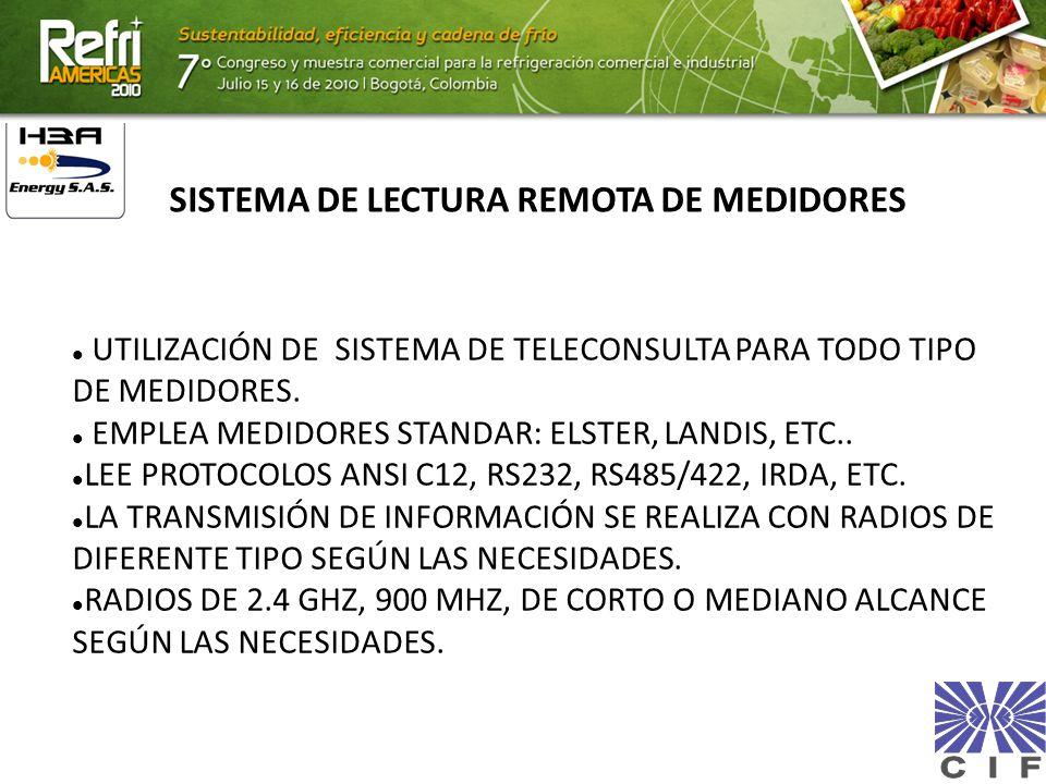 UTILIZACIÓN DE SISTEMA DE TELECONSULTA PARA TODO TIPO DE MEDIDORES. EMPLEA MEDIDORES STANDAR: ELSTER, LANDIS, ETC.. LEE PROTOCOLOS ANSI C12, RS232, RS