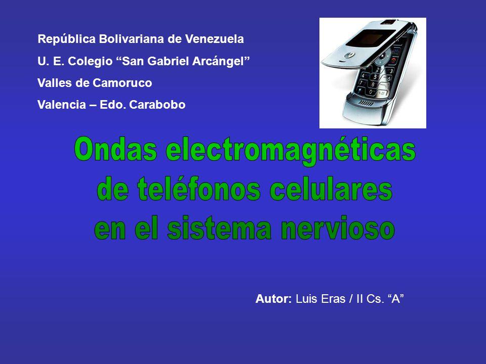 República Bolivariana de Venezuela U. E. Colegio San Gabriel Arcángel Valles de Camoruco Valencia – Edo. Carabobo Autor: Luis Eras / II Cs. A