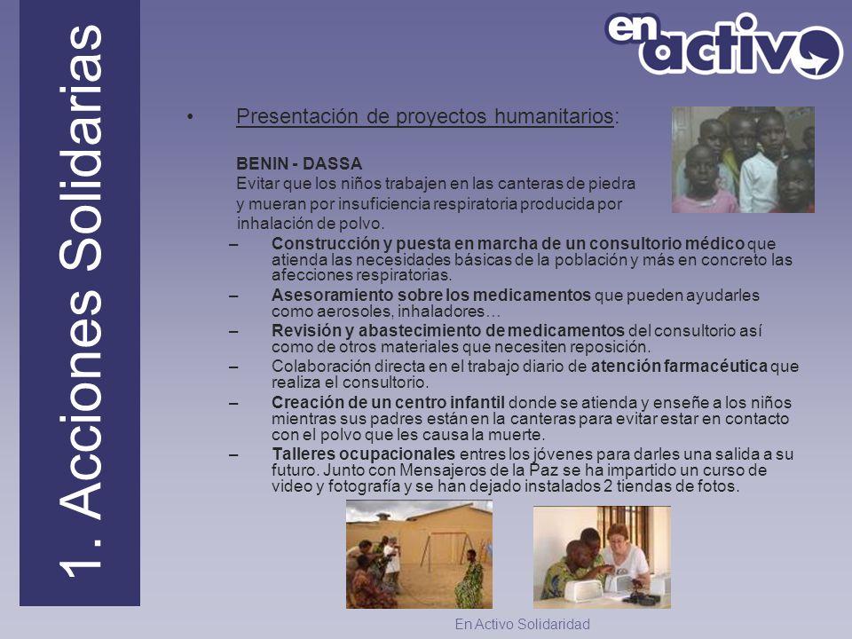 Presentación de proyectos humanitarios: BENIN - DASSA Evitar que los niños trabajen en las canteras de piedra y mueran por insuficiencia respiratoria