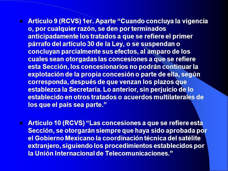 Artículo 9 (RCVS) 1er.