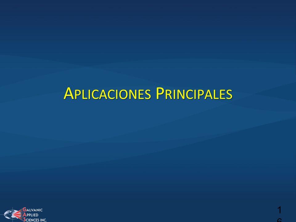 A PLICACIONES P RINCIPALES 16