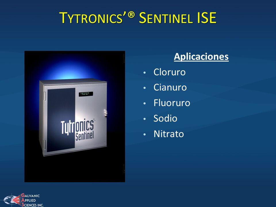 T YTRONICS ® S ENTINEL ISE Aplicaciones Cloruro Cianuro Fluoruro Sodio Nitrato