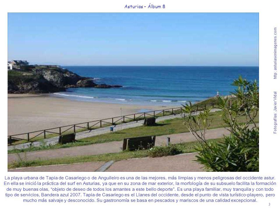 3 Asturias - Álbum 8 Fotografías: Javier Vidal http: asturiasenimagenes.com La playa urbana de Tapia de Casariego o de Anguileiro es una de las mejore
