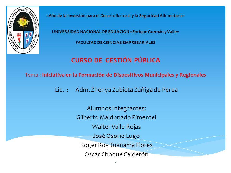 LAS RELACIONES ENTRE MUNICIPALIDADES ARTICULO 124.- RELACIONES ENTRE MUNICIPALIDADES.