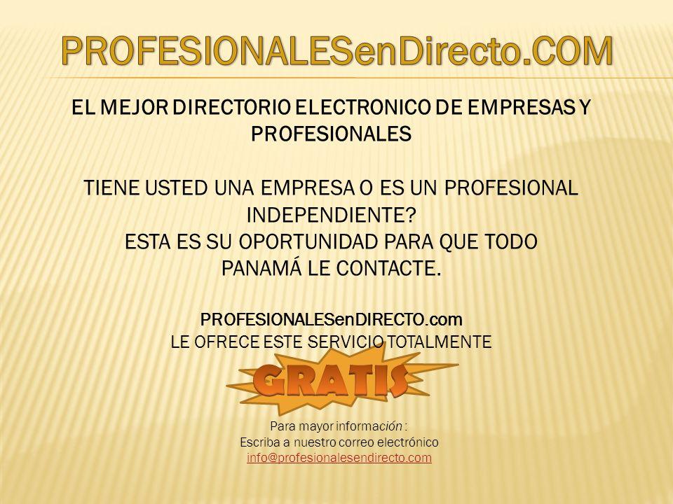Regístrese: Profesionales - EmpresasProfesionales Empresas