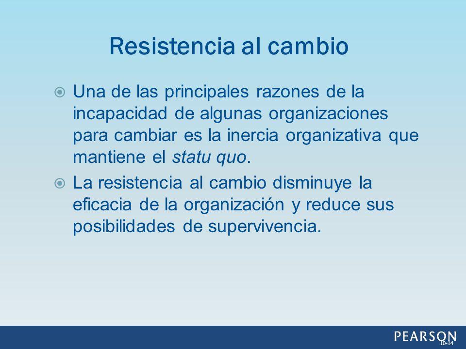 Una de las principales razones de la incapacidad de algunas organizaciones para cambiar es la inercia organizativa que mantiene el statu quo. La resis