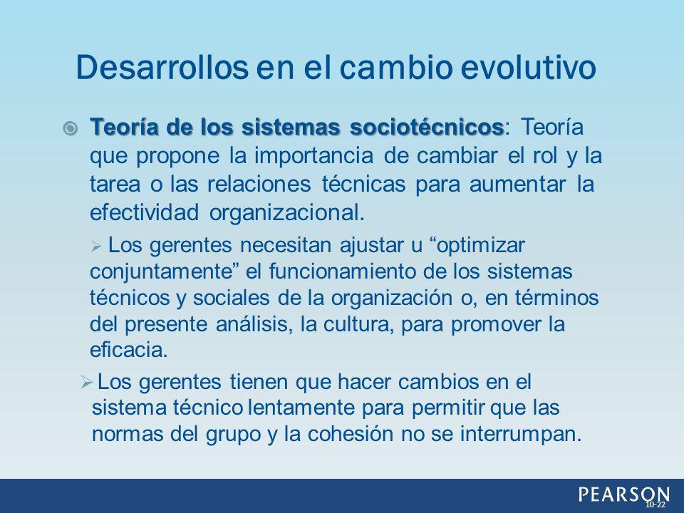Teoría de los sistemas sociotécnicos Teoría de los sistemas sociotécnicos: Teoría que propone la importancia de cambiar el rol y la tarea o las relaci