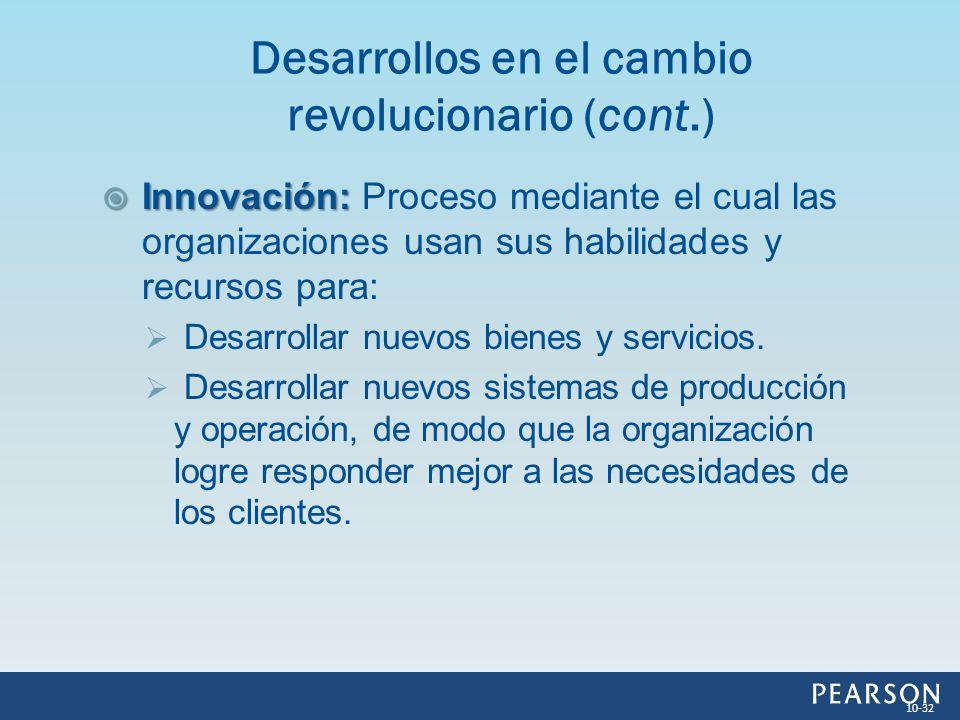 Innovación: Innovación: Proceso mediante el cual las organizaciones usan sus habilidades y recursos para: Desarrollar nuevos bienes y servicios. Desar