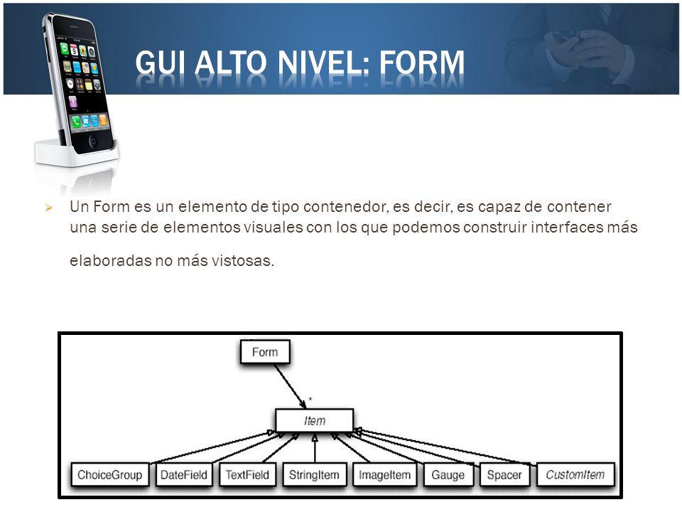 Un Form es un elemento de tipo contenedor, es decir, es capaz de contener una serie de elementos visuales con los que podemos construir interfaces más
