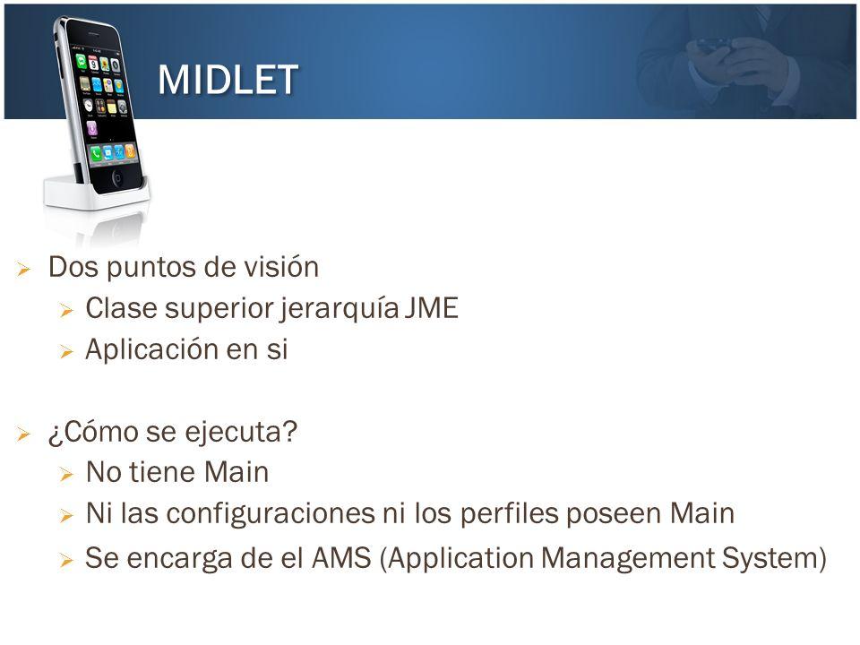 Dos puntos de visión Clase superior jerarquía JME Aplicación en si ¿Cómo se ejecuta? No tiene Main Ni las configuraciones ni los perfiles poseen Main