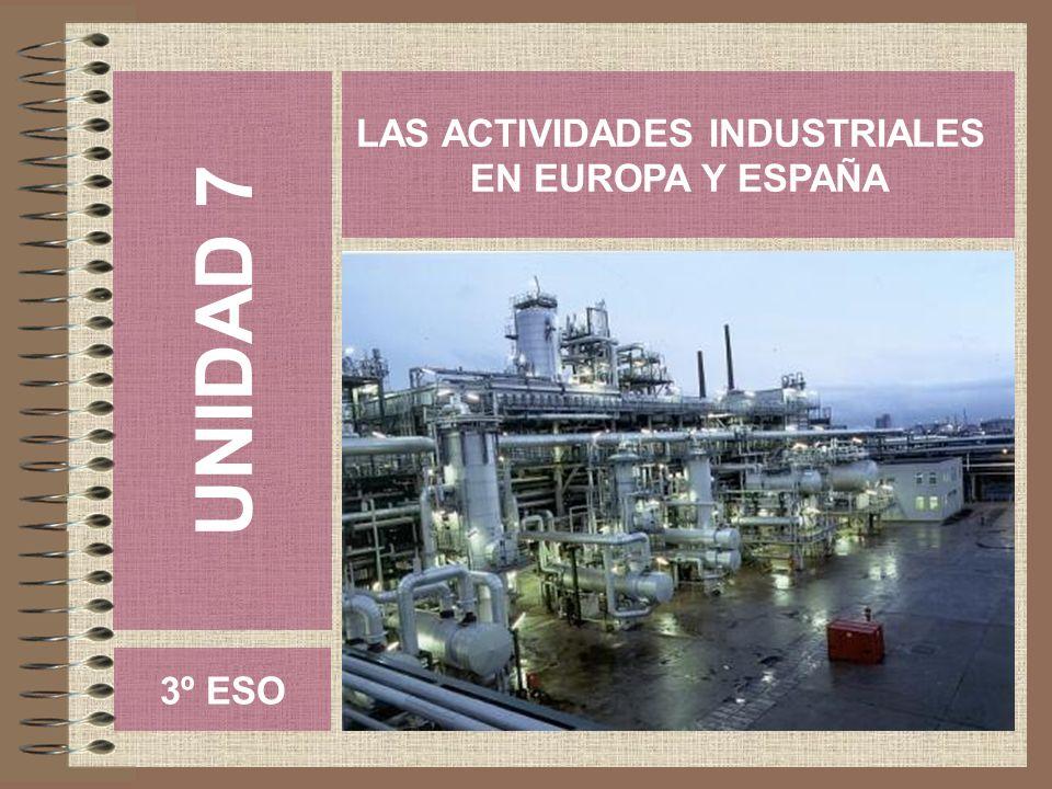 UNIDAD 7 LAS ACTIVIDADES INDUSTRIALES EN EUROPA Y ESPAÑA 3º ESO