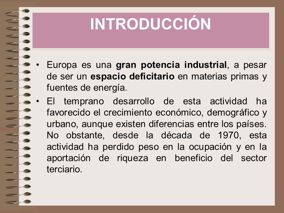 Engloba: –Industria –Construcción Tipos de industrias: –Pesada: »Básica (de primera elaboración): mineras, metalúrgicas y químicas de base »Bienes de equipo: mecánicas y de construcción.