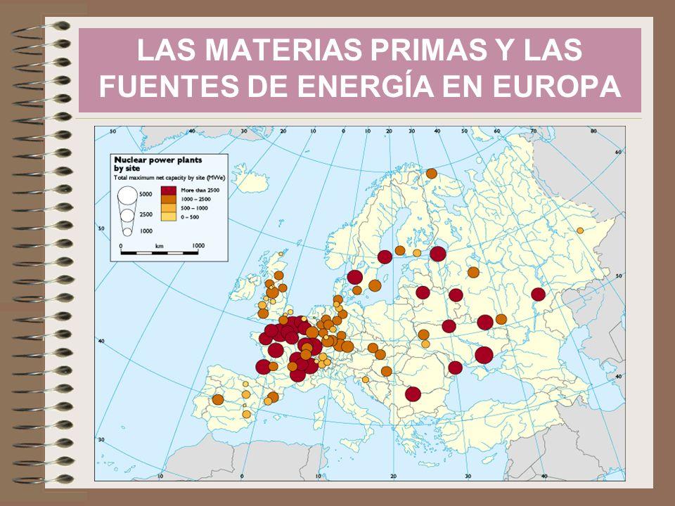 Producción de energía primaria 2007 Fuente: INE, Anuario Estadístico España 2008 Fuente: INE, España en cifras, 2008 M ATERIAS PRIMAS Y FUENTES DE ENERGÍA EN ESPAÑA