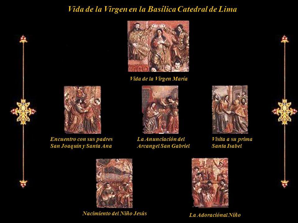 Pasajes de la Virgen hasta el nacimiento del Niño Jesús. Magnificas tallas de medio relieve. Inicialmente ubicadas en la Capilla Mayor de la antigua I