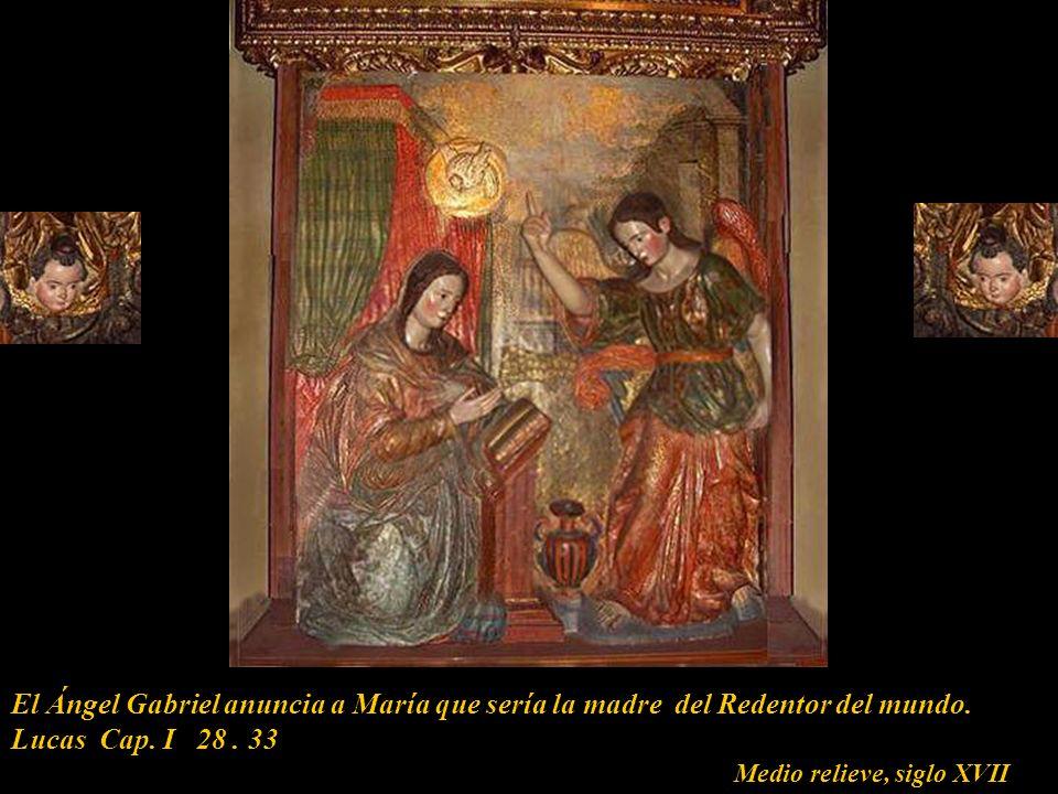 Vida de la Virgen María Vida de la Virgen en la Basílica Catedral de Lima Encuentro con sus padres San Joaquín y Santa Ana La Anunciación del Arcangel