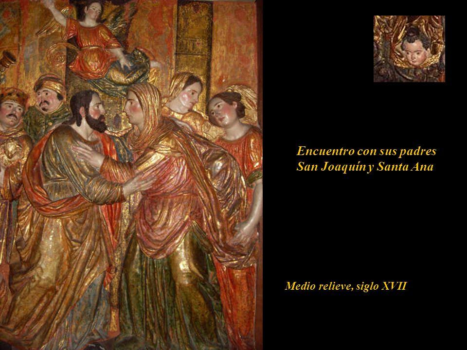El Ángel Gabriel anuncia a María que sería la madre del Redentor del mundo. Lucas Cap. I 28. 33 Medio relieve, siglo XVII