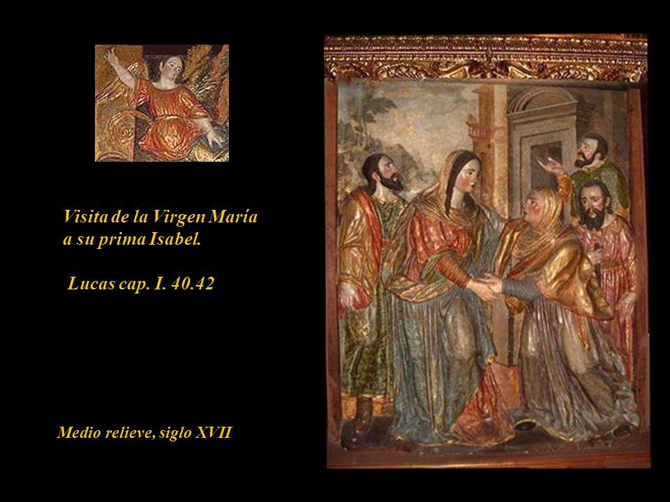 Encuentro con sus padres San Joaquín y Santa Ana Medio relieve, siglo XVII