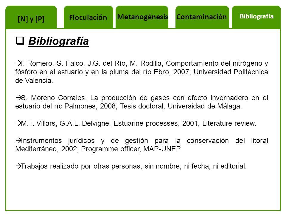 I. Romero, S. Falco, J.G. del Río, M. Rodilla, Comportamiento del nitrógeno y fósforo en el estuario y en la pluma del río Ebro, 2007, Universidad Pol