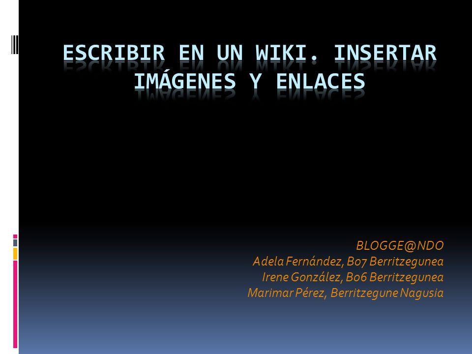 BLOGGE@NDO Adela Fernández, B07 Berritzegunea Irene González, B06 Berritzegunea Marimar Pérez, Berritzegune Nagusia