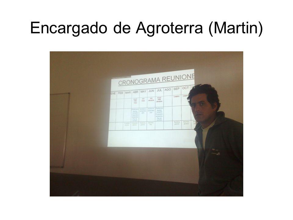 Encargado de Agroterra (Martin)