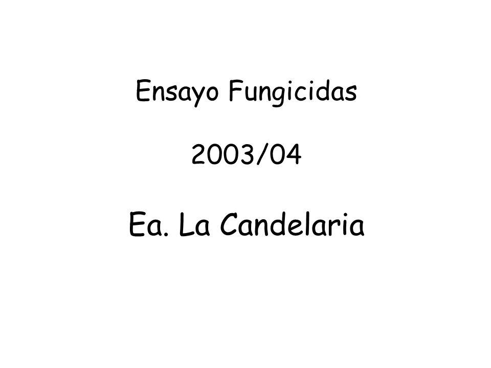 Ensayo Fungicidas 2003/04 Ea. La Candelaria